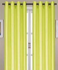54 x 84 neon green faux silk nancy curtain panel