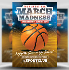 March Madness Flyer Basketball Flyer Templates For Basketball Event Promotions Flyerheroes