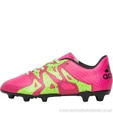 adidas pink black green green junior shock pink solar core kids boots fluo black x 15 3 fg ag football football boots famous