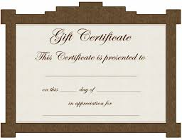 example gift certificate template certificate example gift certificate template