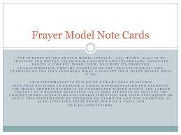 Frayer Model Directions Frayer Model Notecards