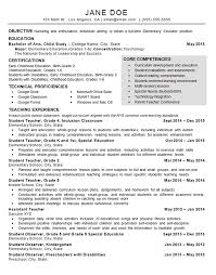 Example Resume For Teachers New Child Care Teacher Resume Example