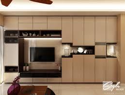 Living Room Tv Console Design Studio Apartment With Maximised Storage