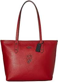 Minnie Mouse City Zip Tote with Motif   169 Disney x COACH