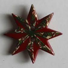 Kinderknopf Weihnachtsstern Rot Größe 20mm Kunststoff
