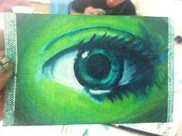 oil eye painting ogous by clearfishink