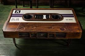 awesome cassette tape coffee table