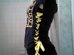 lace up corset shirt reconstruction