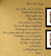 the lords prayer vinyl wall decals quotes sayings  on wall art lettering quotes with the lord s prayer vinyl wall decals quotes sayings words art decor