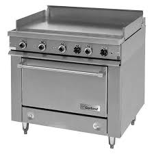 gas range with griddle top. Interesting With Garland 36ES38 HeavyDuty Electric Range With Griddle Top And Storage Base   240V 3 Phase  To Gas With E