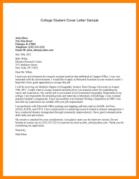 13 College Student Cover Letters Job Apply Form