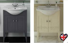 cg bathroom 750mm traditional victorian vanity washstand storage unit with basin