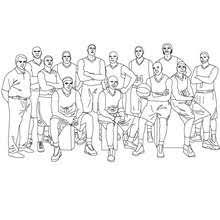 Basketball Team And Coach Coloring Pages Hellokidscom