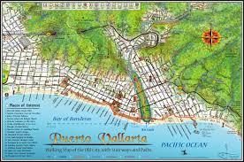 mapa jeff cartography puerto vallarta walking map
