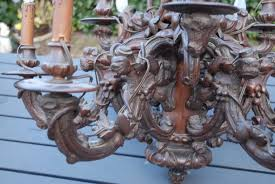 carved fabulous antique victorian black forest rustic style large chandelier for