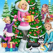 Barbie in A Perfect Christmas Coloring pages for kids