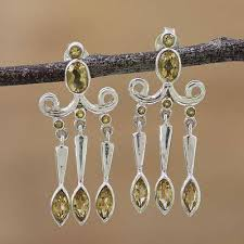 citrine chandelier earrings ling charm citrine and sterling silver chandelier earrings from