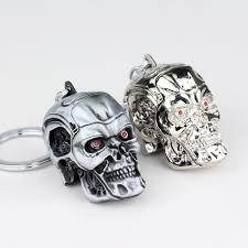 Hot Movie Terminator Keychain <b>Cool</b> 3D <b>Skull head</b> Shape Metal ...