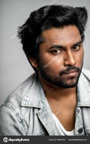 famous indian actor with good looking appearance cropped stock photo
