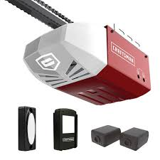 craftsman 1 2 hp ac series 100 chain cable drive garage door opener system rail