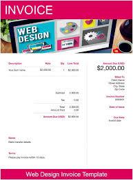 Web Design Invoice Template Free Download Send In Minutes