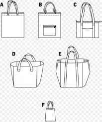 Tote Bag Pattern Awesome Tote Bag Handbag Burda Style Pattern Bags Template Png Download