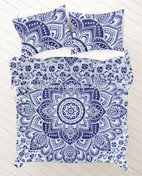 Screen Printing Designs For Bed Sheets Lotus Flower Blue Ombre Designer Hand Made Bed Sheets Printed Cotton Duvet Handloom Screen Printed Knitted Bedsheet Duvet Cover Buy Cotton Handloom