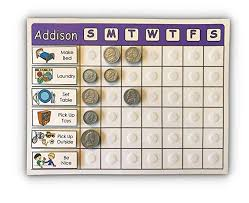 Weekly Allowance Chart Amazon Com Custom Allowance Chart Choose Color Name The