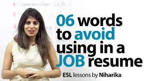 Words To Avoid On Resume 24 Words To Avoid In A Resume Job Interview Skills English Lesson 18