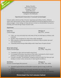 Cosmetology Resume Samples 60 cosmetologist resume samples prome so banko 43