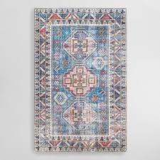 ariella blue flatwoven medallion jute area rug