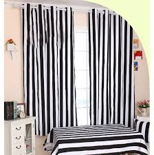 black striped curtains