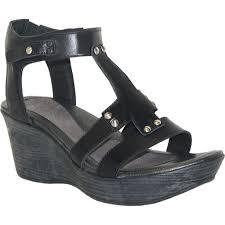 naot flirt black leather wedge sandals