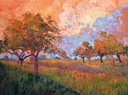 contemporary impressionism landscape oil painting for by erin hanson