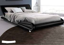 FLIO PU Leather Bed Frame Queen Black - Free Shipping - Best Price ...