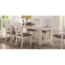 brushed white trestle style dining table scottsdale