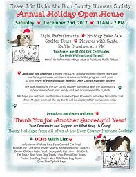 door county humane society hosts holiday open house