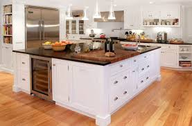butcher block countertop with a classic cutting board
