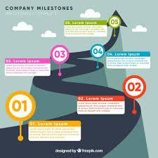 Company Milestones Example Elegant Company Evolution Template Vector Free Download