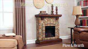electric fireplace stone elegant stacked stone fireplace sku plow hearth you