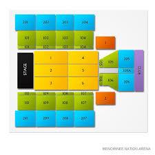 Menominee Arena Seating Chart Menominee Nation Arena 2019 Seating Chart