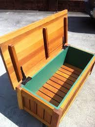 build a wooden storage bench outdoor wood storage bench treenovation