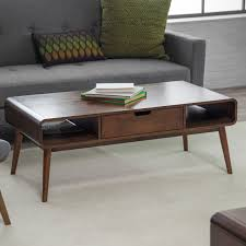 Image of: Belham Living Carter Mid Century Modern Coffee Table Hayneedle  Pertaining To Coffee Table