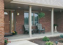 fluted aluminum columns on an open front porch