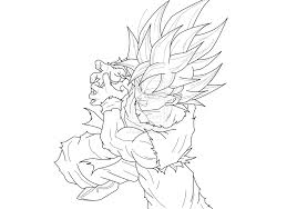 Adult Goku Coloring Page Goku Coloring Pages Printable Goku