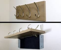 Hidden Gun Coat Rack Modern coat rack w hidden compartment for covert storage of jewelry 32
