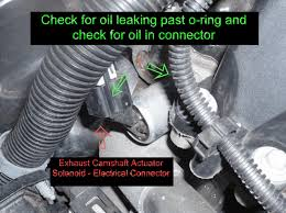 how to replace exhaust camshaft actuator solenoid chevrolet disconnect the engine wiring harness electrical connector from the camshaft position actuator solenoid valve