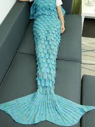 Mermaid Blanket Knitting Pattern Beauteous Super Soft Hollow Out Design Knitted Mermaid Tail Blanket In Lake
