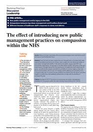 Pdf The Effect Of Introducing New Public Management Practices On