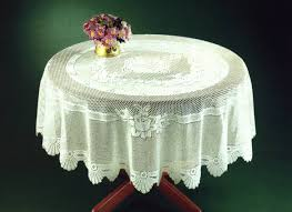monica tablecloths round white
